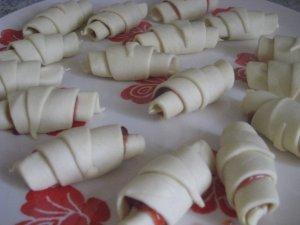 Croissants à la confiture