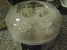 Yaourts au sirop de fraise