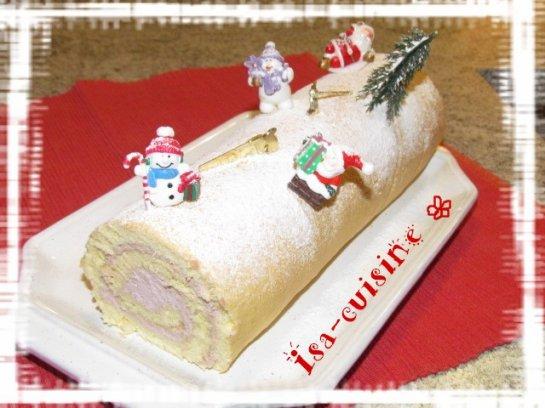 Bûche de Noël aux framboises et à la mascarpone