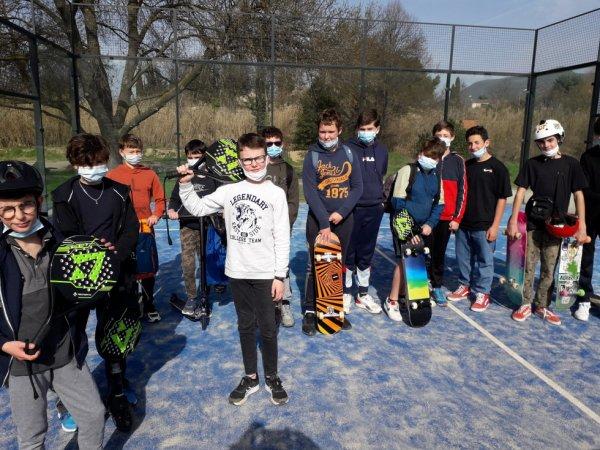 Initiation Padel et SkatePark à Villedieu Février 2021