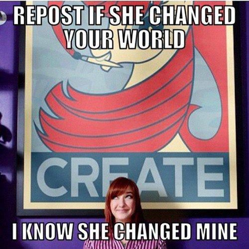 repost si elle a changer ton monde.
