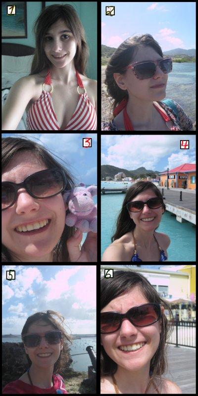 Moi à Saint-Martin : montage/photo par moi