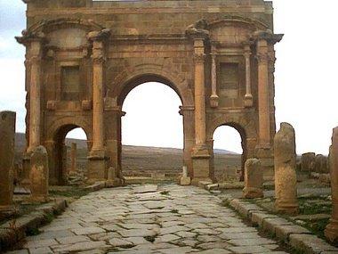 les ruines de timgad(batna) algérie