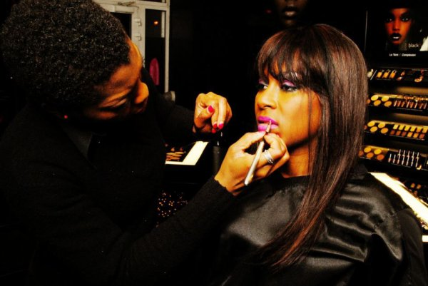 Black-up maquillée par Georgina Adeoti,photographe BoyoMagazine Pradel SaintFleur.