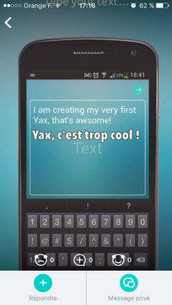Participe aux tests de la nouvelle messagerie sur Yax !