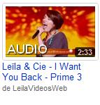 [21/04/09] Leïla - Prime N°3 : Dès Que J'Te Vois  < Facebook | Youtube | Myspace | Twitter Fans | Noomiz | Forum >