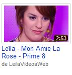 [26/05/09] Leïla - Prime N°8 : Girls Just Want To Have Fun & Mon Amie La Rose < Facebook | Youtube | Myspace | Twitter Fans | Noomiz | Forum >