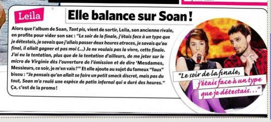 [18/12/09] Article parut dans Public « Elle balance sur Soan » < Facebook | Youtube | Myspace | Twitter Fans | Noomiz | Forum >