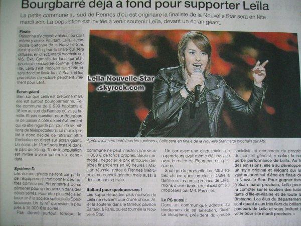 [06/06/09] Leïla interviewée dans Ouest-France < Facebook | Youtube | Myspace | Twitter Fans | Noomiz | Forum >