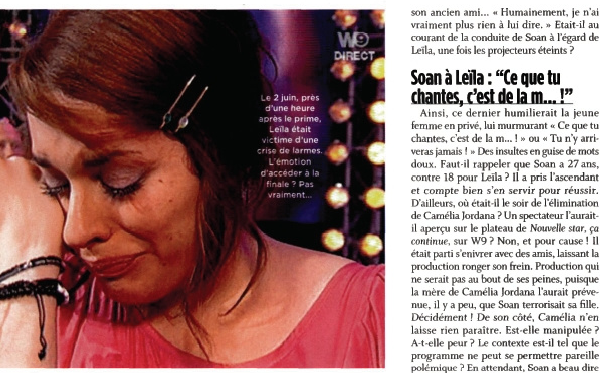 [02/06/09] Leïla dans Closer N°208 < Facebook | Youtube | Myspace | Twitter Fans | Noomiz | Forum >
