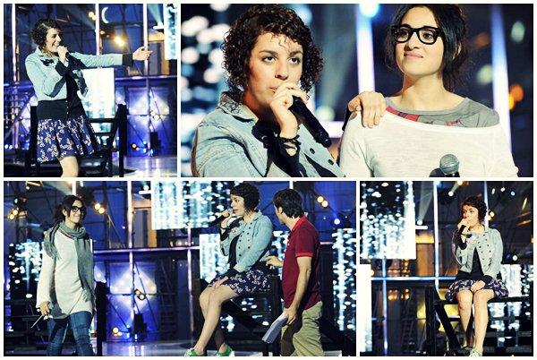 [01/06/09] Répétitions avant la Demi-Finale avec Leïla, Camélia Jordana & Soan < Facebook | Youtube | Myspace | Twitter Fans | Noomiz | Forum >