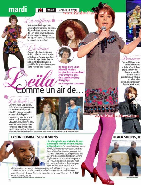 [16/05/09] Leila comme un air de... < Facebook | Youtube | Myspace | Twitter Fans | Noomiz | Forum >