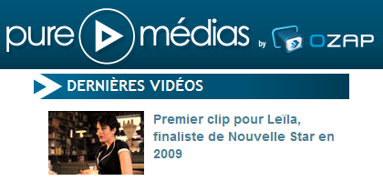 [02/06/11] Article d'Ozap sur le Clip de Leila And The Koalas ! < Facebook | Youtube | Myspace | Twitter Fans | Noomiz | Forum >