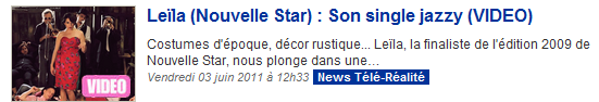 [03/06/11] Article de Télé-Loisirs sur le Clip de Leila And The Koalas ! < Facebook | Youtube | Myspace | Twitter Fans | Noomiz | Forum >