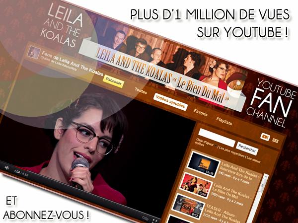 [21/07/11] Plus d'1 Million de vues sur YouTube ! < Facebook | Youtube | Myspace | Twitter Fans | Noomiz | Forum >