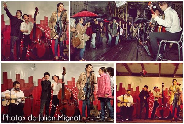 [23/07/11] Leïla & quelques Koalas, lors du concert de Trio Laid à Transat en Ville, sous la pluie, à Rennes< Facebook | Youtube | Myspace | Twitter Fans | Noomiz | Forum >
