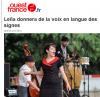 [02/04/12] Ouest France : « Leïla donnera de la voix en langue des signes » < Facebook | Youtube | Myspace | Twitter Fans | Noomiz | Forum >