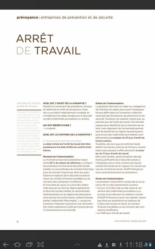 Prévoyance Notice d'information AG2R La Mondiale