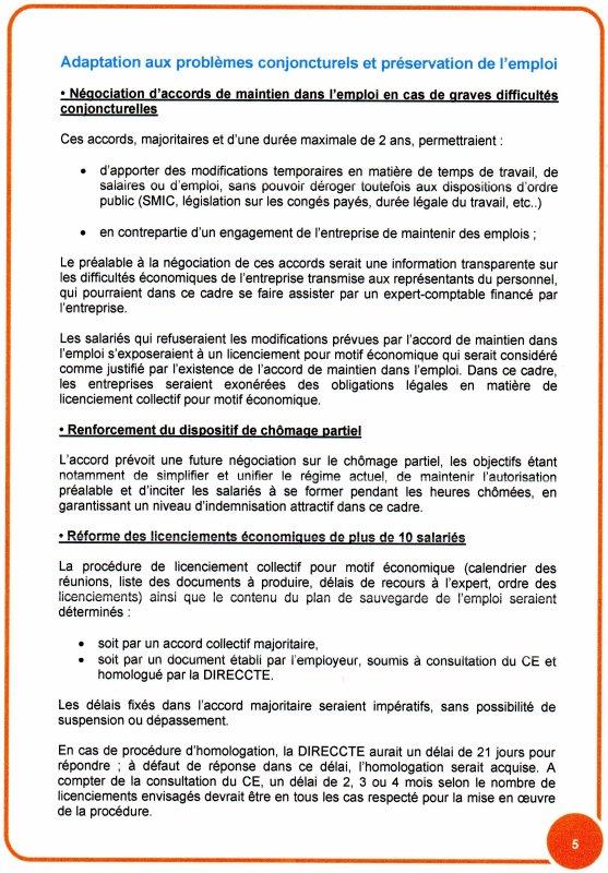 Accord National Interprofessionnel du 11 Janvier 2013