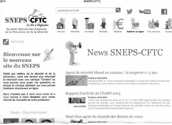 Le Nouveaux site Du SNEPS CFTC