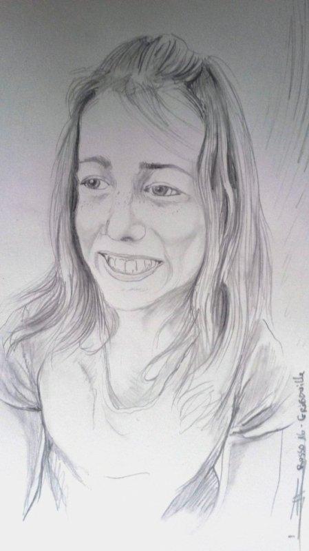 portrait de ma fille (crayon )