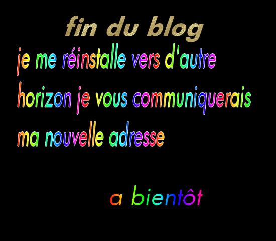 fin de mon blog...