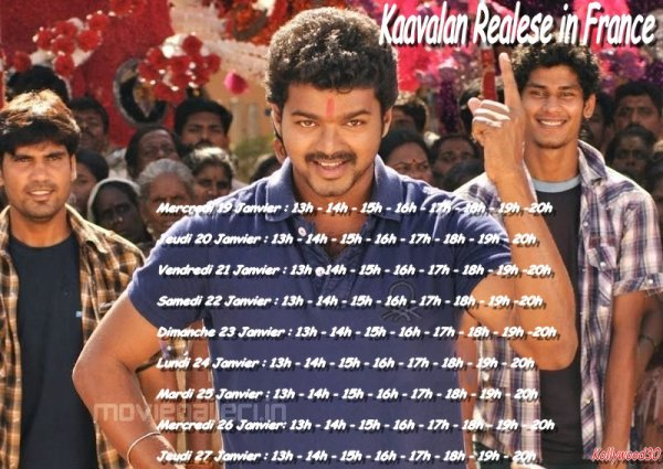 Kaavalan realese in France showtimes !