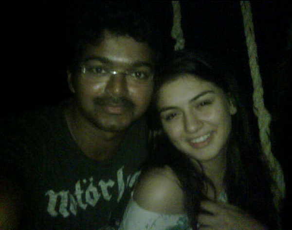 Vijay and Hansika
