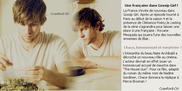 Source Chace Crawford : Crawford-CH  News.   Article o3