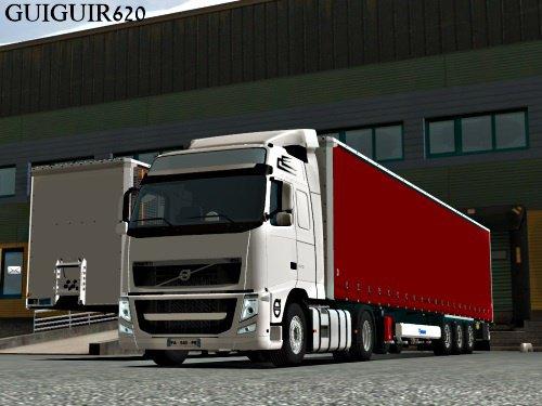 Mon Volvo avec ma semi Krone