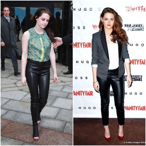 Kristen aime ... le legging cuir