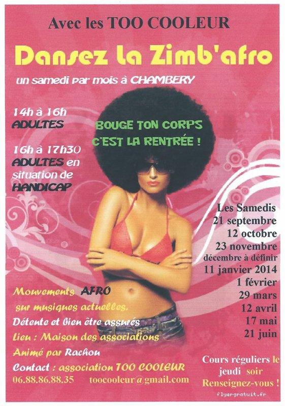 Stage de Zimbafro, venez nous rejoindre sur Chambery !!