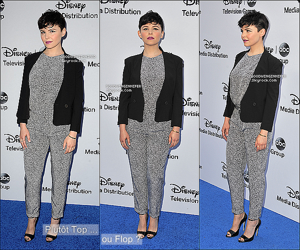 .EVENT|  19.05.13 - Ginnifer au côté de son compagnon, Josh lors du Disney Media Networks..