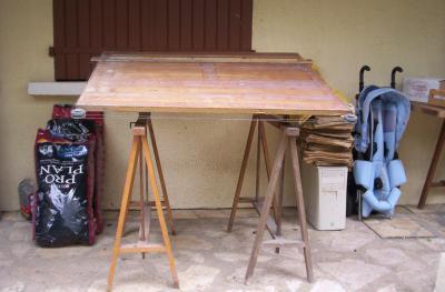 Table D Architecte En Bois table d'architecte bois ,années 60 - combi vw , broc design 6070