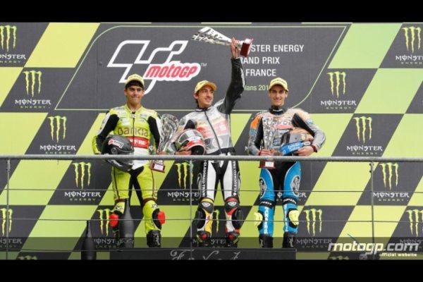 LE GRAND PRIX MOTO 2012 sur le podium Lorenzo (yamaha) gagne devant Rossi (ducati) et  Stoner (honda)!!!!!