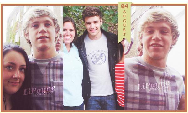 .  AUGUST, 04 : Liam et Niall ont été vus hier, à Londres, avec des fans.    Danielle était avec Liam le soir, aux J.O. (clique)______ .