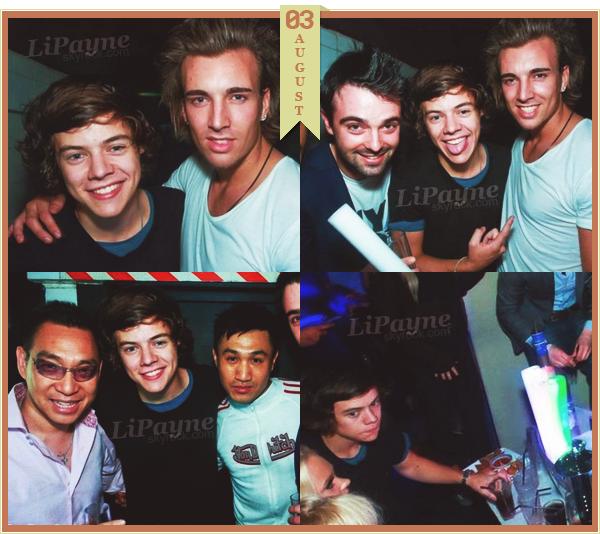 .  AUGUST, 03 : Harry a été photographié à Londres.   Donc il ne sortait pas d'un cinéma mais d'un club. (voir article précédent)_____________________ .
