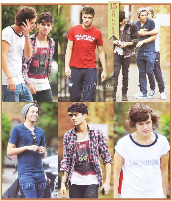 .  AUGUST, 16 : Harry et Liam ont été vus hier, à Londres.   .