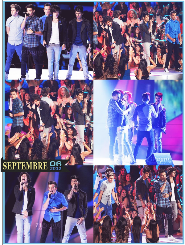 . _06/09_~_Nos beaux 1D étaient à la cérémonie des MTV Video Music Awards à L.A._ .