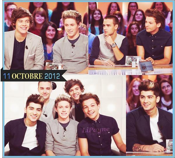 . _18/10_~_Zayn, Louis, Niall et Harry ont été vus à l'extérieur d'un studio, à Londres._ .