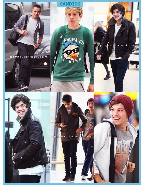 .  ___-___ NOV. 06. ___ Les garçons ont été vus à l'aéroport d'Heathrow (Londres) pour partir à Los Angeles.  .
