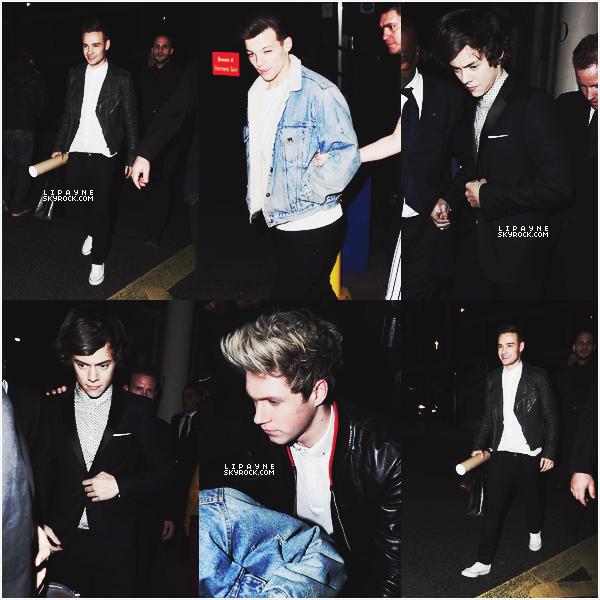 .  ___-___ FEV. 20. ___ Les garçons, toujours aussi beaux, étaient présents aux Brit Awards 2013, avant-hier soir.  .