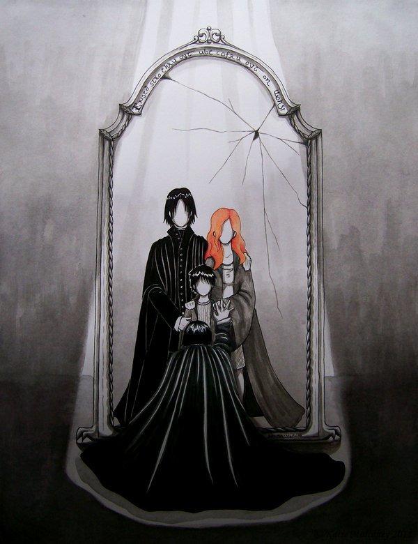 « Ses yeux sont verts comme un crapaud frais du matin,  Ses cheveux noirs comme un corbeau , il est divin»  Ginny Weasley