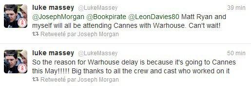 """____» Une nouvelle affiche promo pour le prochain film de Joseph Morgan """"WarHouse"""", qui sera présenté au festival de Cannes. Il se pourrait même que Joseph soit présent à Cannes d'après les tweets sur son Twitter."""