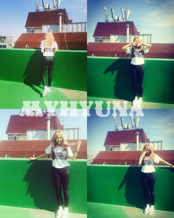 Hyuna pour un le magazine InStyle. Je trouve le shoot très beau, simple.