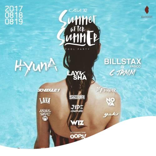Hyuna sera attendue à une soirée piscine Bardot (?) Le 18,19 août