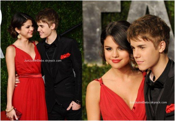 27th February - Hier c'est déroulé les « 2011 Vanity Fair Oscar Party » Justin était présent à cet évènement et il n'etait pas seul :D Héhe