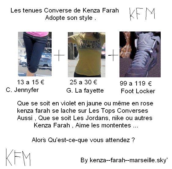 Kenza Farah : Haut converse