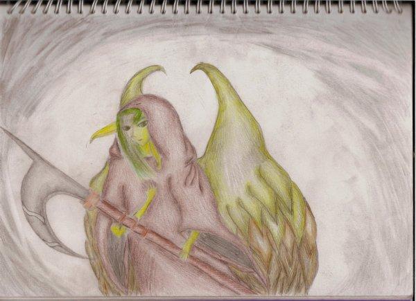 Ange elfique faucheur de la mort