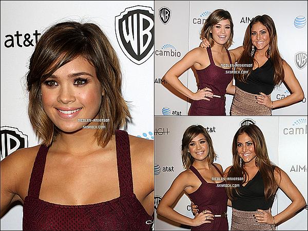 """16 Octobre 2011 :  Nicole était présente à la première de """"Aim High"""" avec Cassie Scerbo ."""
